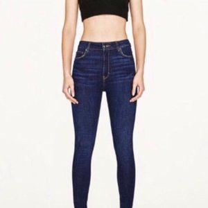 Zara Z1975 Denim Dark Wash Size 6 Raw Hem Skinny